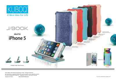 Kuboq J book for iPhone 5, black