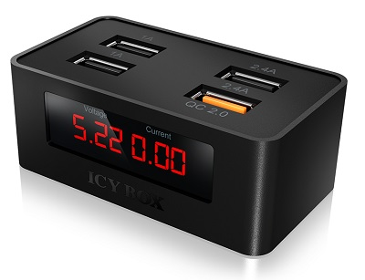 ICY BOX IB-CH403 4-Port USB fast-charging-device